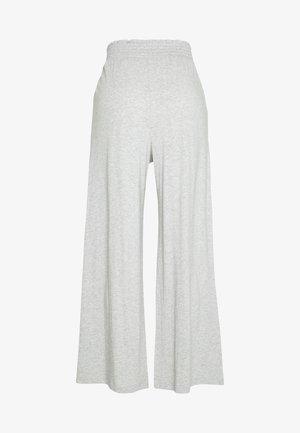 WIDE LEG PANT - Pyjamasbukse - grey heather