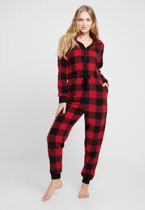 V-COZY UNION SUIT - Pyjama - red/black