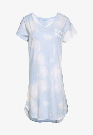 SLEEPSHIRT - Nattskjorte - light blue/white