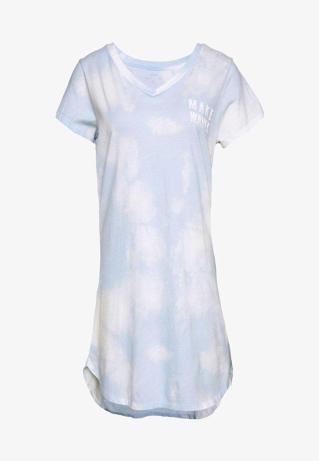 SLEEPSHIRT - Nattlinne - light blue/white