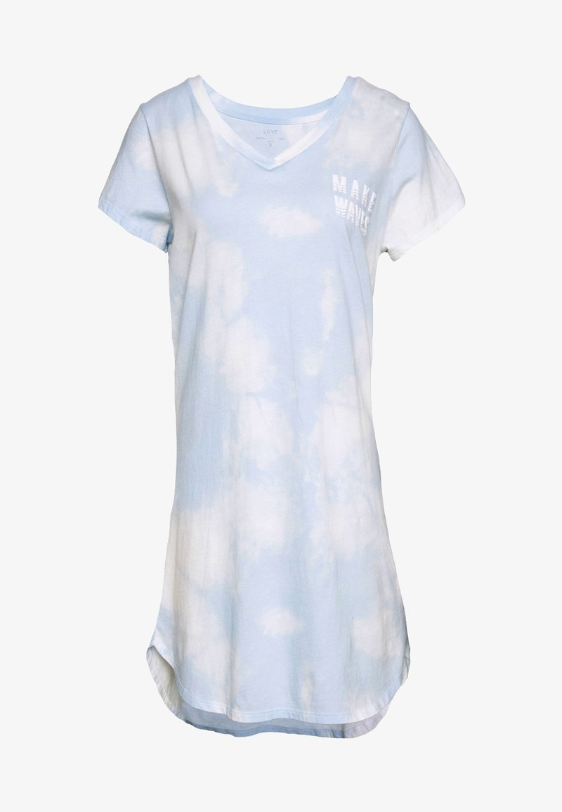 GAP - SLEEPSHIRT - Nattskjorte - light blue/white
