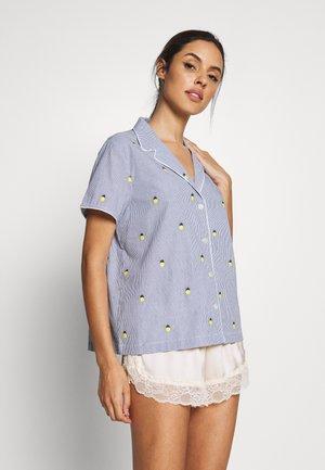 POPLIN - Pyjamashirt - light blue/yellow