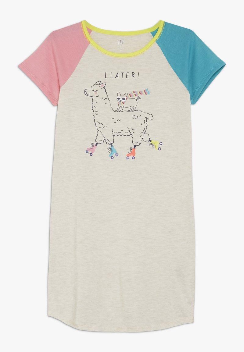GAP - GIRL LLAMA  - Noční košile - oatmeal heather