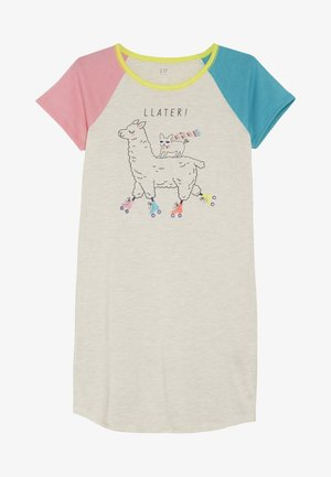 GIRL LLAMA  - Noční košile - oatmeal heather