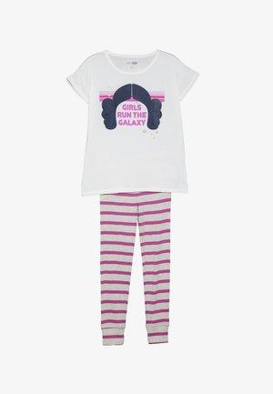 GIRL LEIA SET - Pyžamová sada - milk global/pink