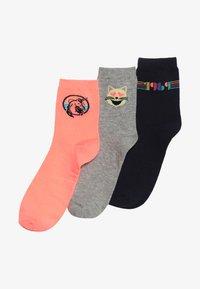GAP - GIRLS UNICORN 3 PACK - Ponožky - neon coral volt - 2