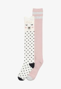 GAP - GIRL LLAMA 2 PACK - Chaussettes hautes - ivory frost - 2
