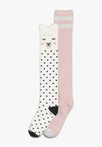 GAP - GIRL LLAMA 2 PACK - Chaussettes hautes - ivory frost - 0
