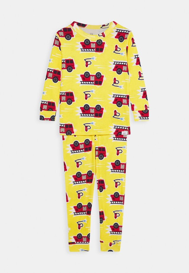 TODDLER BOY FIRETRCK SET - Piżama - canary yellow