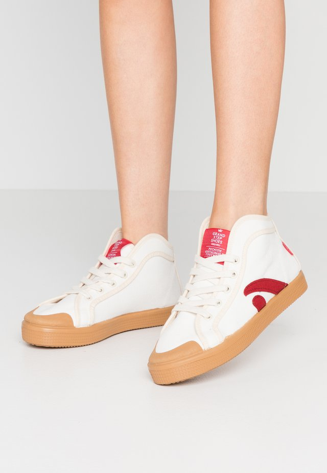 TAYLOR - Sneakers alte - offwhite/red
