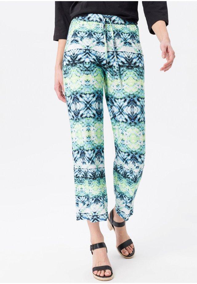 Pantaloni - blau/limone/multicolor
