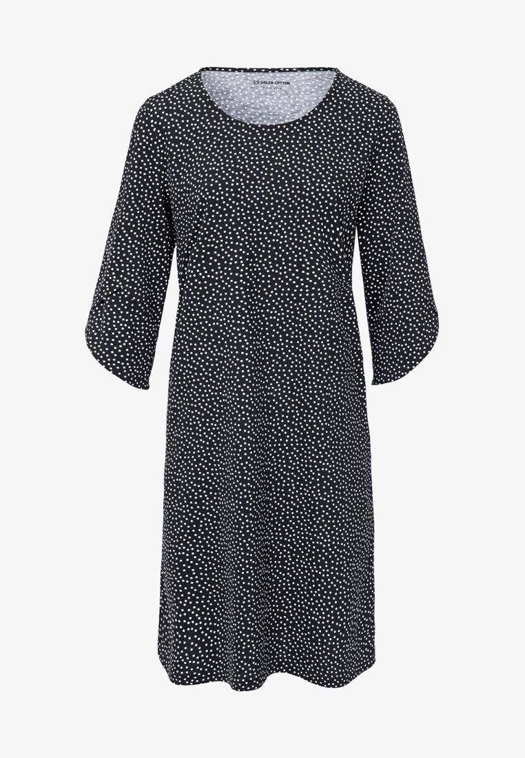 Green Cotton - MIT 3/4-ARM - Robe en jersey - black/white