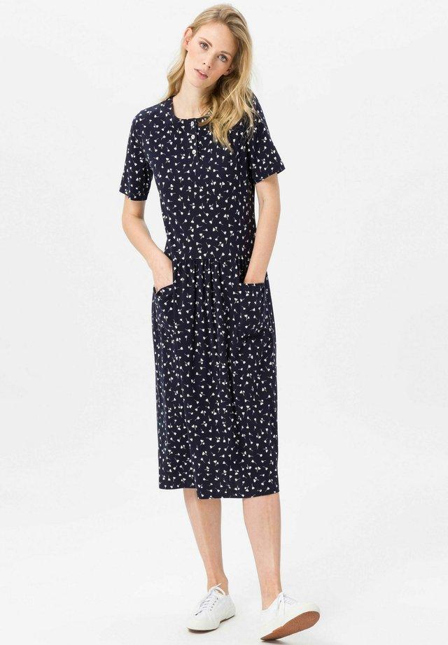 JERSEY-KLEID JERSEY-KLEID - Jersey dress - marine/weiß