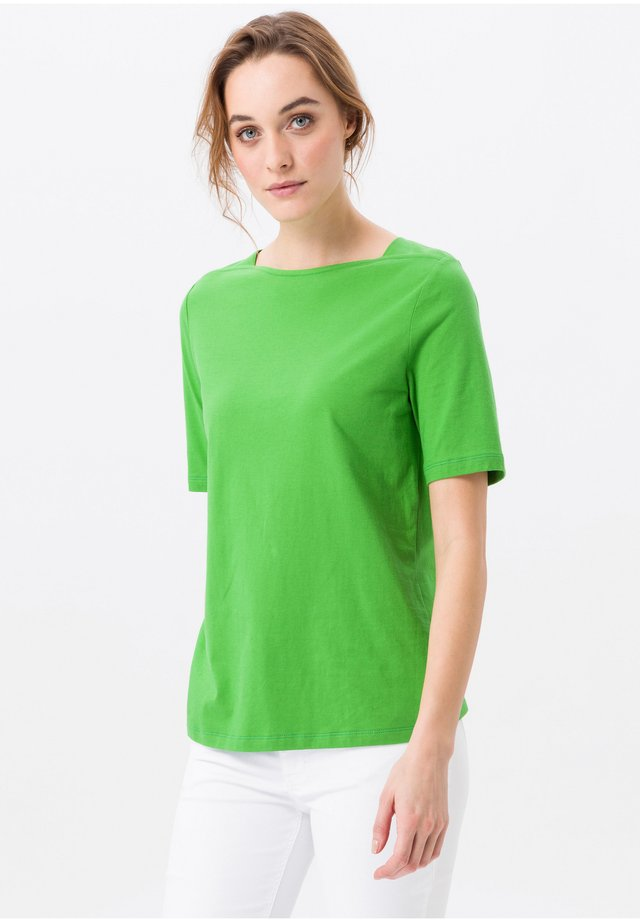 MIT U-BOOT-AUSSCHNITT - T-shirt basique - grün