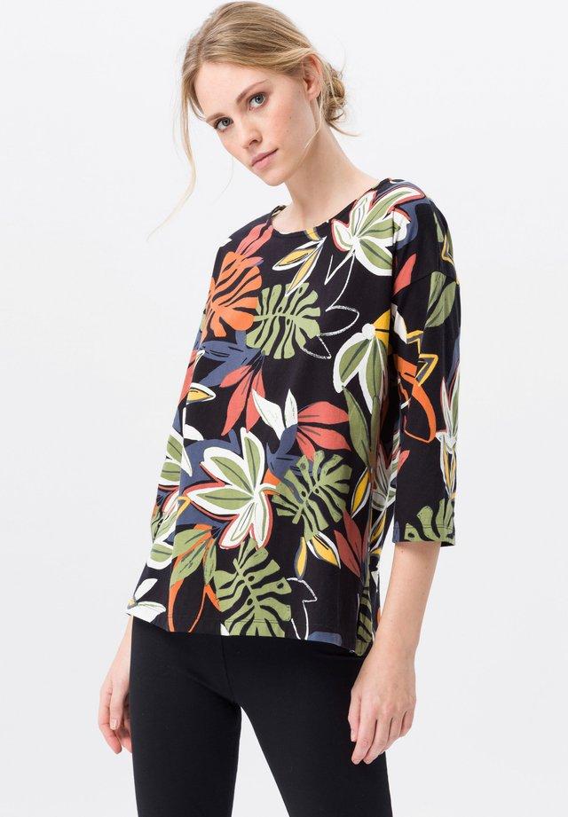 Long sleeved top - schwarz/multicolor