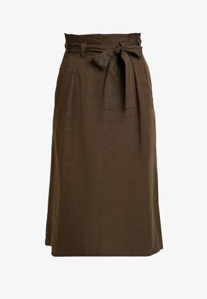 BEAU BELT - A-line skirt - dark olive