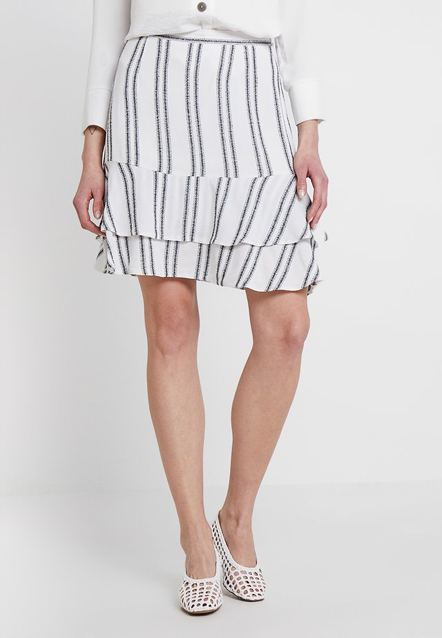 SAHARA STRIPE MIDI SKIRT - Minikjol - milk/ dark navy
