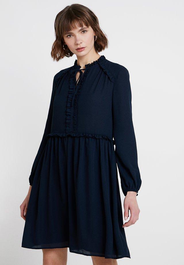 TEXAS TIE DETAIL DRESS - Day dress - dark navy
