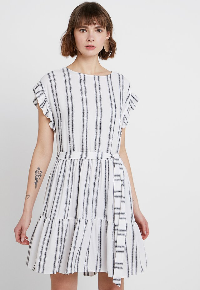 SAHARA STRIPE DRESS - Freizeitkleid - milk/dark navy