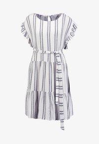 Great Plains London - SAHARA STRIPE DRESS - Kjole - milk/dark navy - 4