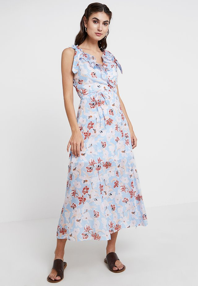 TULUM FLORAL DRESS - Maxi dress - powder blue/multi