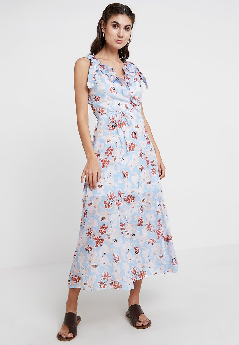 Great Plains London - TULUM FLORAL DRESS - Vestido largo - powder blue/multi