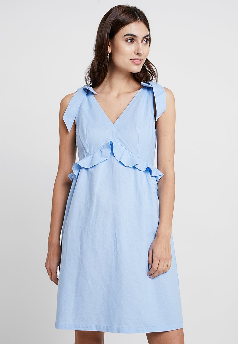Great Plains London - SAFI MIDI DRESS - Day dress - light blue