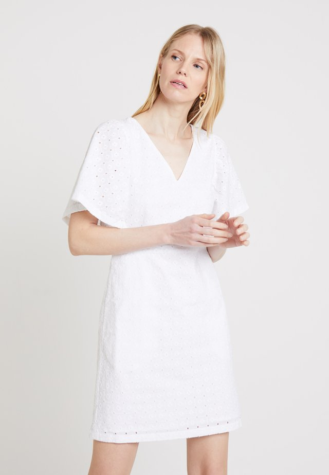 MORRO FLOWER DRESS - Day dress - optic white