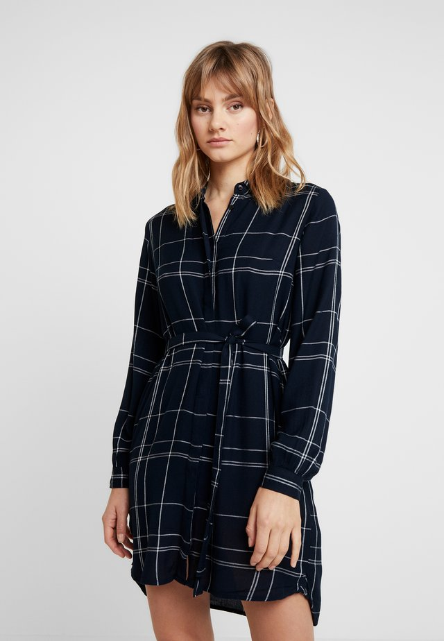 AGNES CHECK - Shirt dress - space navy combo
