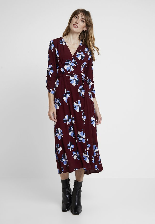 ROCHELLE FLOWER - Day dress - cabernet combo