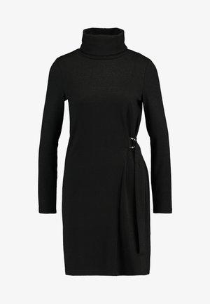 TAMARA TIE - Strikket kjole - black/gold