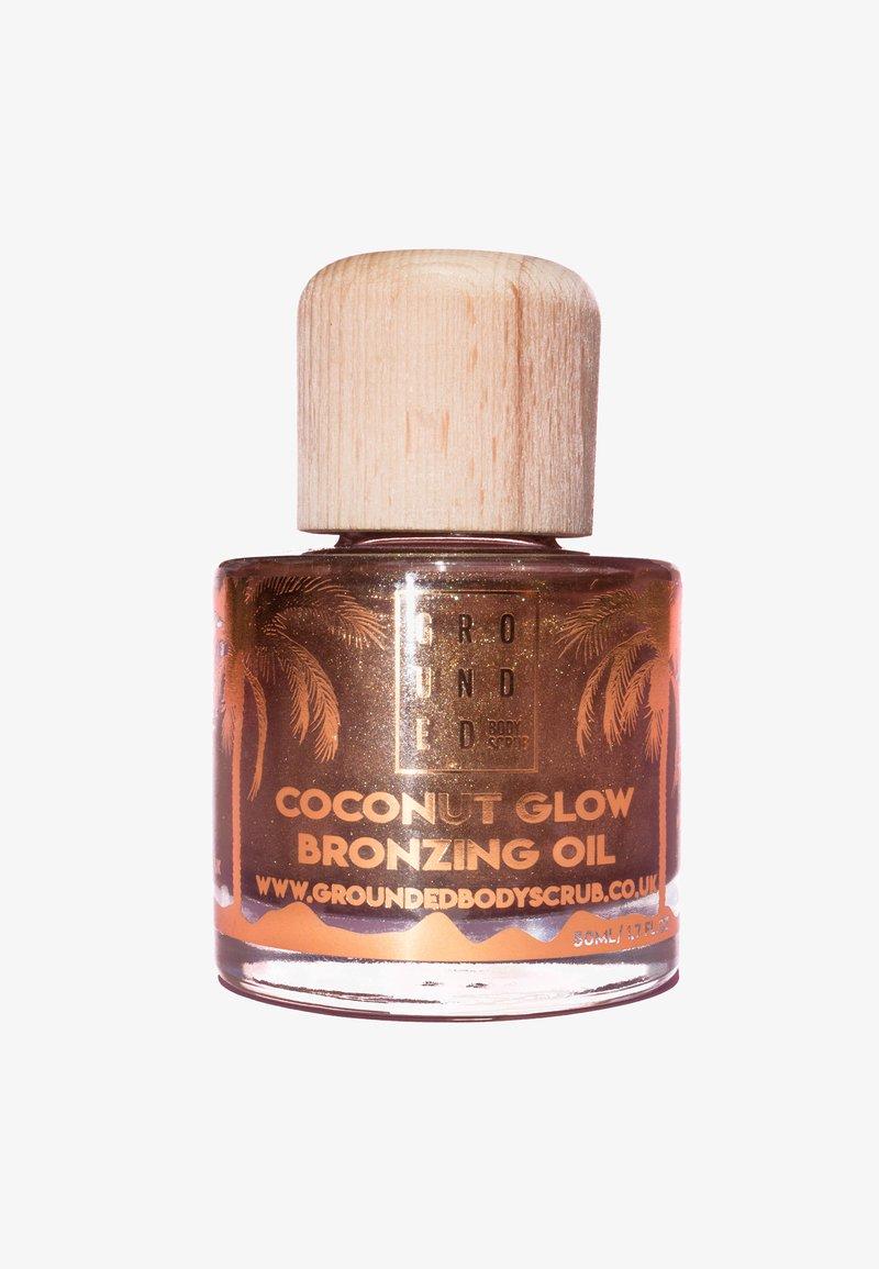 Grounded - COCONUT GLOW BRONZING SHIMMER OIL 50ML - Kroppsolja - bronze