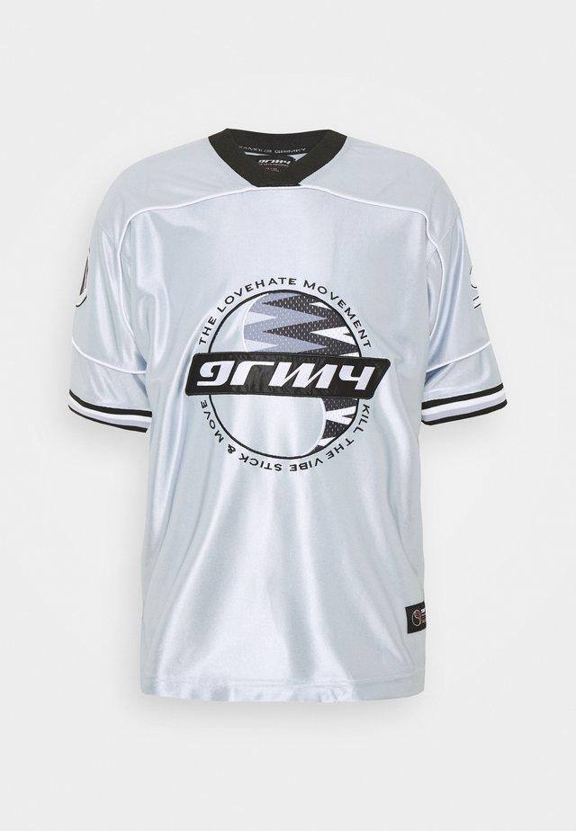 ACKNOWLEDGE FOOTBALL - T-shirt imprimé - silver