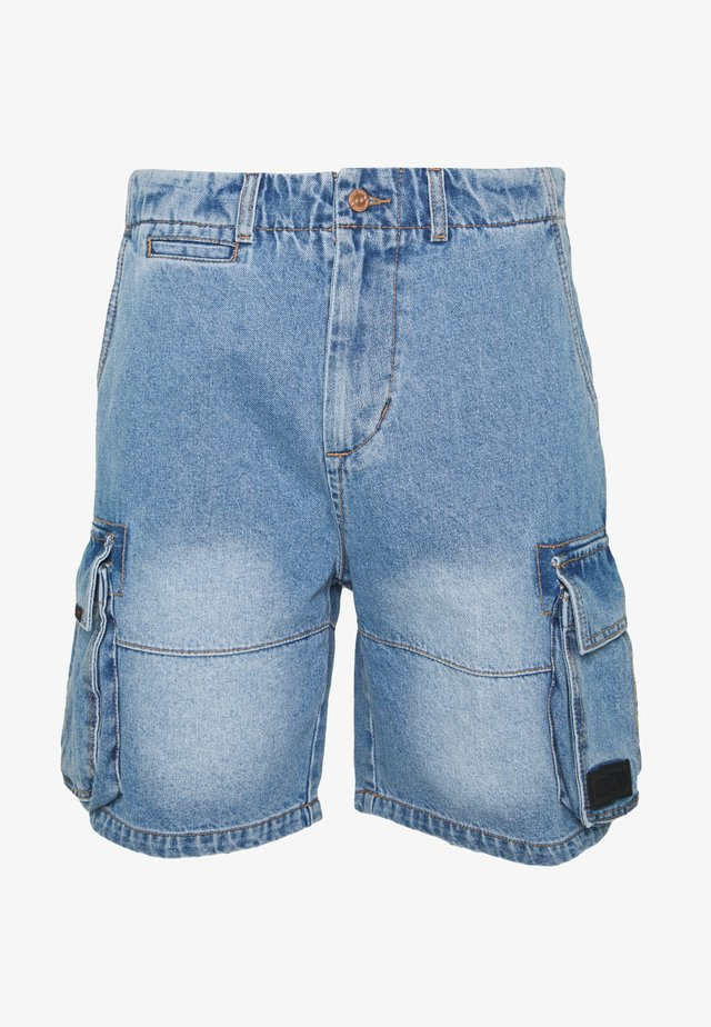 YANGA  - Denim shorts - light blue