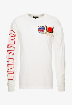 ENGINEERING LONG SLEEVE TEE - Pitkähihainen paita - white