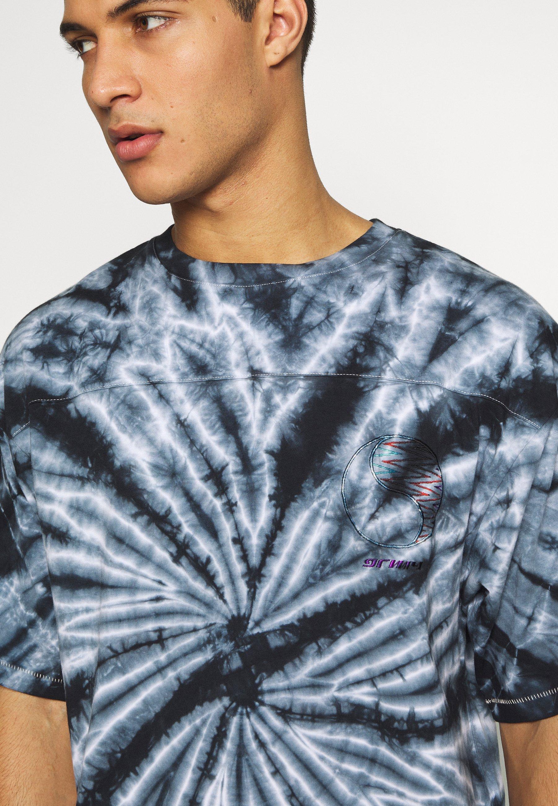 Grimey ACKNOWLEDGE TEE - T-shirt z nadrukiem - black