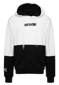 MWM - DOUBLE - Jersey con capucha - white/black - 0