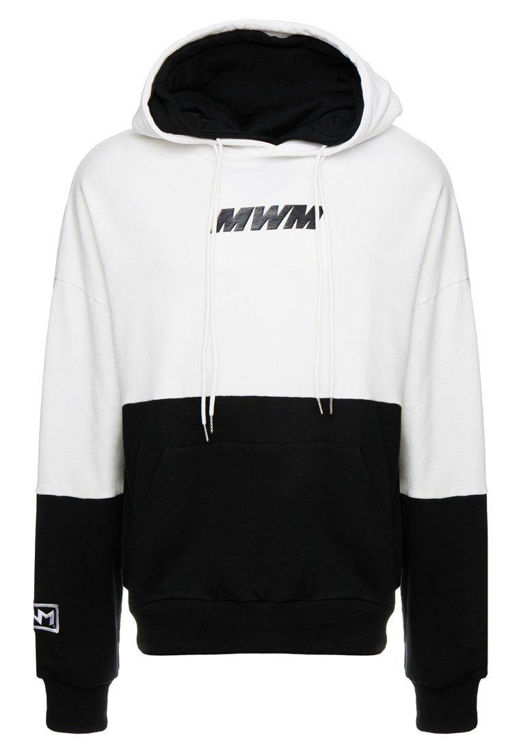 MWM - DOUBLE - Jersey con capucha - white/black