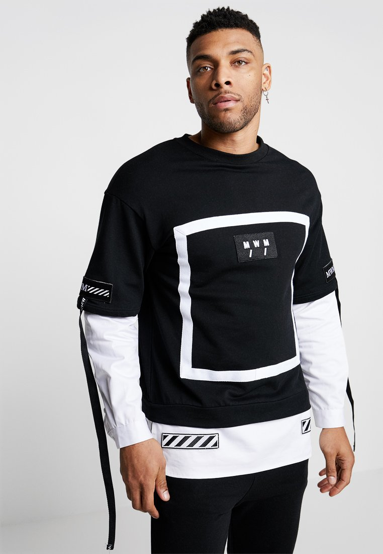 MWM - TEE DOUBLE LONG SLEEVES - Sweatshirt - black