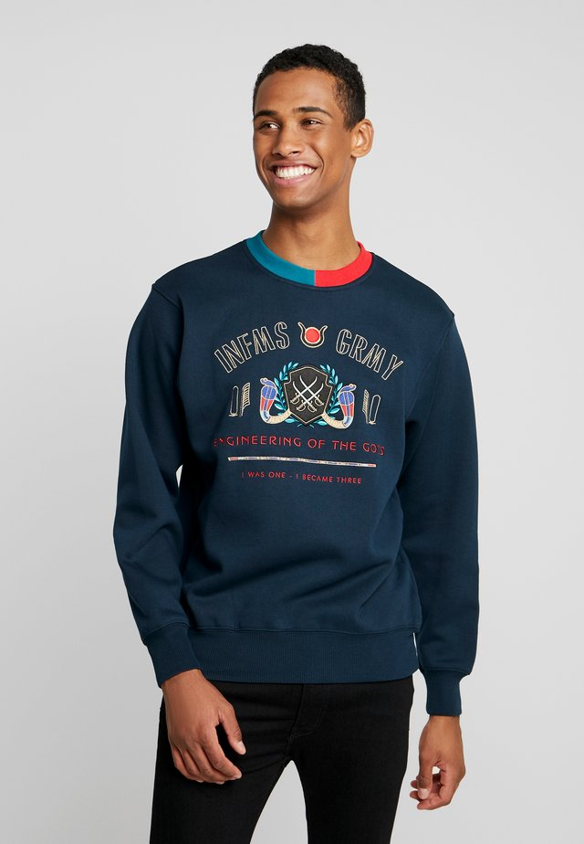 ENGINEERING OF THE GODS CREWNECK - Sweatshirt - navy