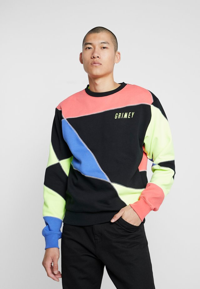 PLANETE NOIRE OVERLOCK CREWNECK - Sweater - black