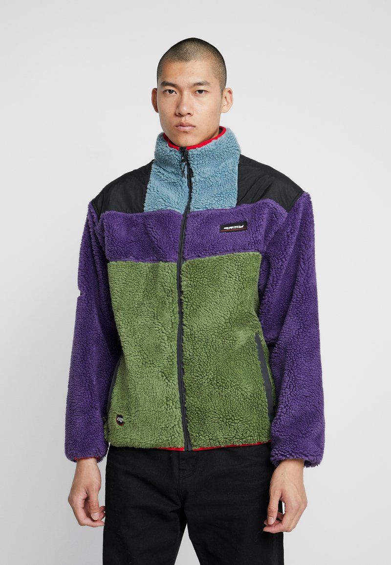 Grimey - SIGHTING IN VOSTOK SHERPA JACKET - Lehká bunda - purple