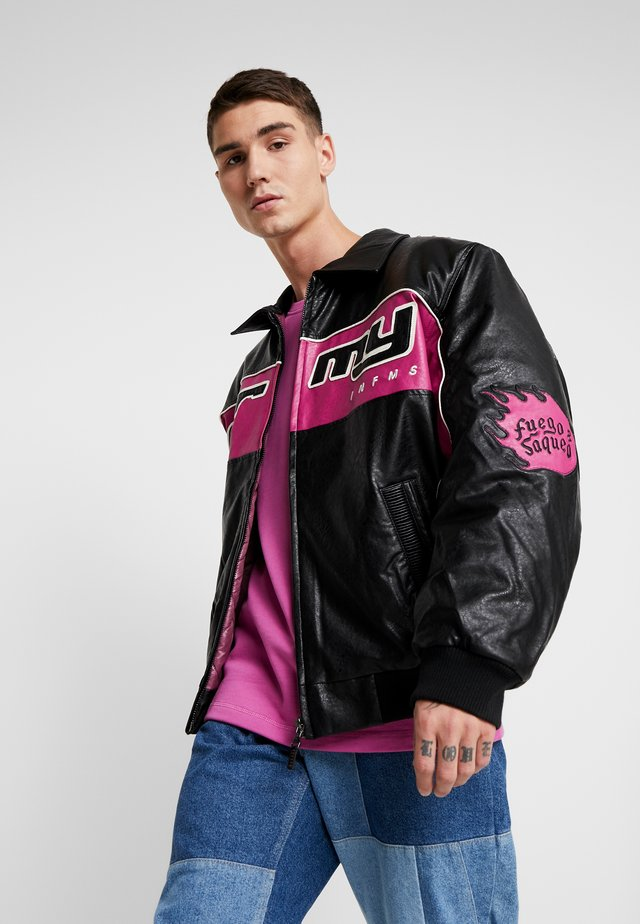 LOOTER CULT JACKET - Faux leather jacket - black