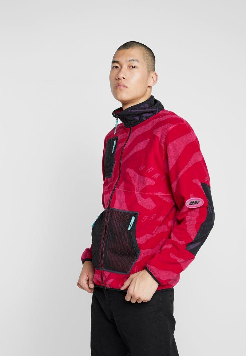 Grimey - MYSTERIOUS VIBES ZIP POLAR - Fleece jacket - pink