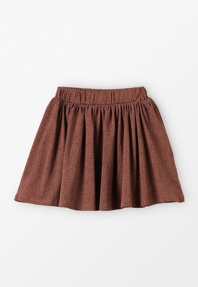 GRO - EBRU - A-line skirt - dark raspberry brown