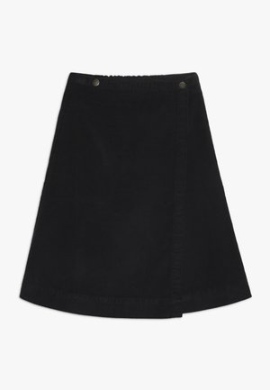 SAGA BUTTON SKIRT - Spódnica trapezowa - black