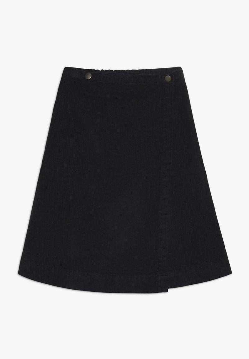 GRO - SAGA BUTTON SKIRT - A-line skirt - black