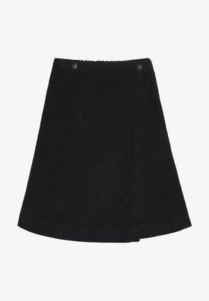 SAGA BUTTON SKIRT - Áčková sukně - black