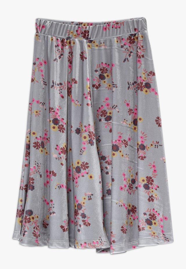 GRETA  LONG SKIRT - A-line skirt - grey