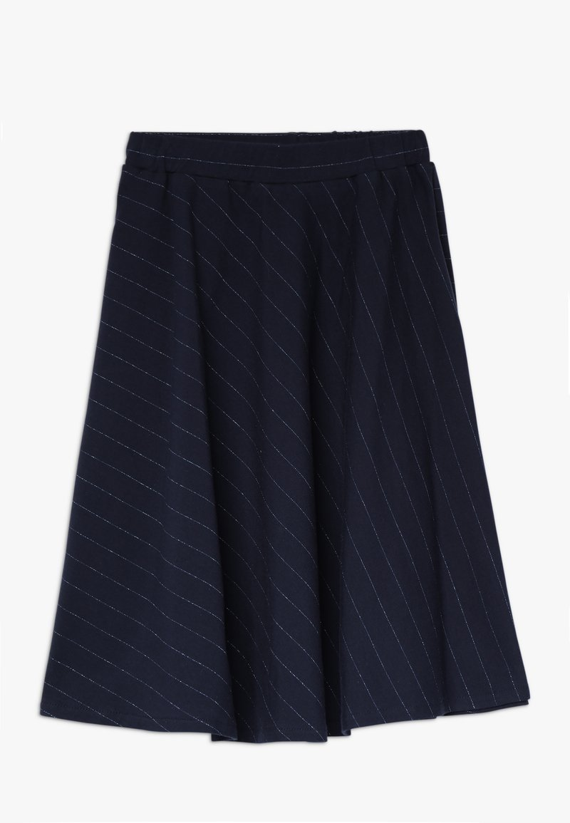 GRO - MYNTE DIAGONAL SKIRT - A-line skirt - navy